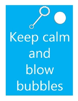 KEEP CALM Posters - Bubbles and Crayons by GBK