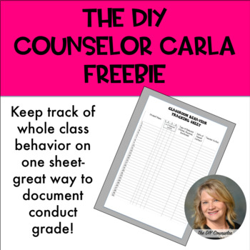 Classroom Behavior Tracking Sheet