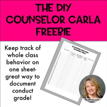 Classroom Behavior Tracking Sheet