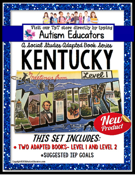 KENTUCKY State Symbols ADAPTED BOOK for Special Education