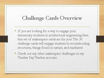 KEVA Planks Challenge Cards Packet