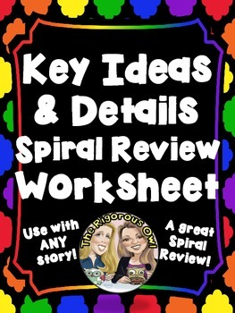 Characters, Setting, Events, Text Evidence and Inference Worksheet Common Core
