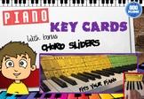 KEYBOARD PIANO - LIFE SIZE NOTES & CHORDS - SITS BEHIND KEYS (FULL SIZE)
