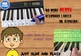 KEYBOARD PIANO - LIFE SIZE NOTES & CHORDS - SITS BEHIND KEYS (FULL SIZE)