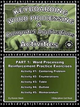 "KEYBOARDING – WORD PROCESSING – COMPUTER APPLICATIONS  ""Pa"