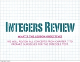 KEYNOTE Integers Review