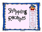 Shopping Receipts: Common Core math SNOWMAN, HALLOWEEN, ST