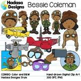 Bessie Coleman Clip Art Set