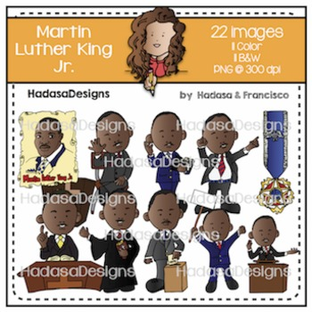 Martin Luther King Jr Clip Art Set