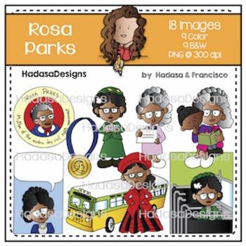 Hadasa Designs: Rosa Parks Clip Art Set
