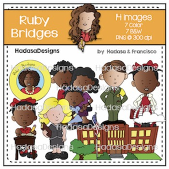 Ruby Bridges Clip Art Set