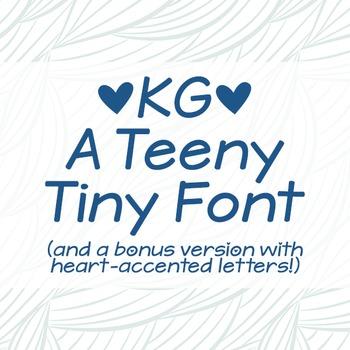 KG A Teeny Tiny Font: Personal Use