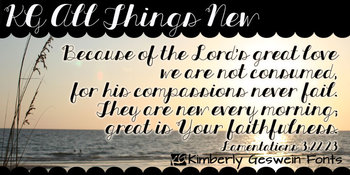 KG All Things New Font: Personal Use