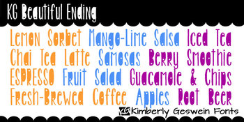 KG Beautiful Ending Font: Personal Use