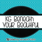 KG Beneath Your Beautiful Font: Personal Use