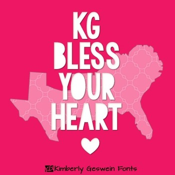 KG Bless Your Heart Font: Personal Use