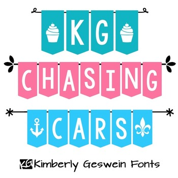 KG Chasing Cars Font: Personal Use