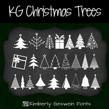 KG Christmas Trees Font: Personal Use
