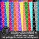 Patterned Papers: KG Color Match Papers Set One
