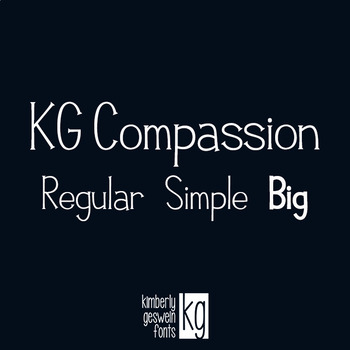 KG Compassion Font: Personal Use