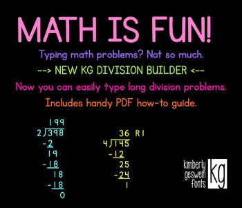 KG Division Builder Font: Personal Use