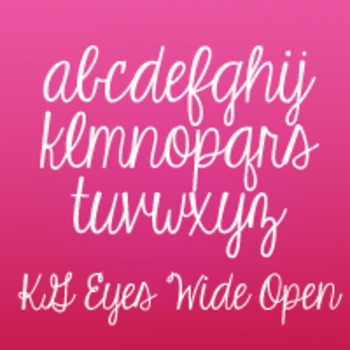 KG Eyes Wide Open Font: Personal Use