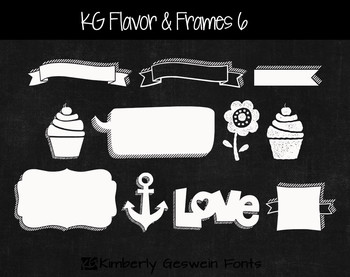 KG Flavor And Frames Six Font: Personal Use