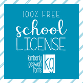 KG Fonts: FREE School or District License