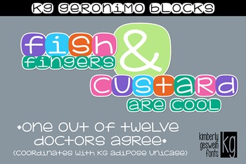 KG Geronimo Blocks Font: Personal Use