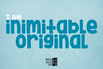 KG Inimitable Original Font: Personal Use