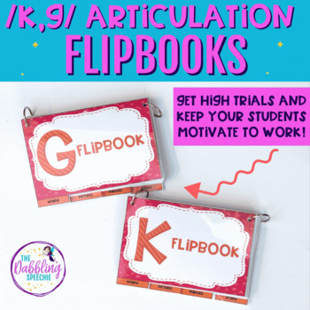Interactive Articulation Flip books For /k,g/ (With Editab