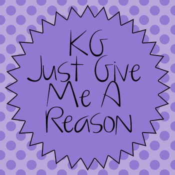 KG Just Give Me A Reason Font: Personal Use