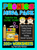 KINDERGARTEN PHONICS WORKSHEETS -300+  WORKSHEETS