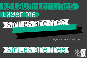 KG Laughter Lines Font: Personal Use