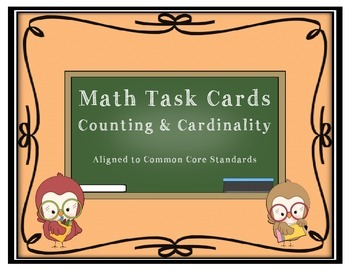 KG Math Task Cards - Counting and Cardinality - CCCS aligned