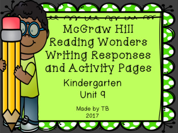 KG McGraw Hill Wonders Writing Responses and Activity Page