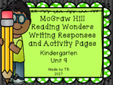 KG McGraw Hill Wonders Writing Responses and Activity Pages Unit 9