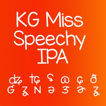 KG Miss Speechy IPA Font: Personal Use Speech Language Pathologists SLP