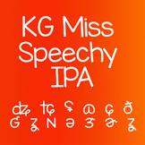 KG Miss Speechy IPA Font: Personal Use Speech Language Pat