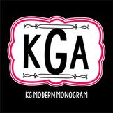KG Modern Monogram Font: Personal Use