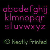 KG Neatly Printed Font: Personal Use