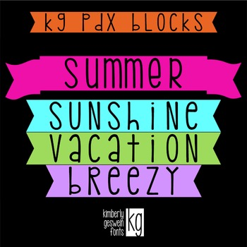 KG PDX Blocks Font: Personal Use