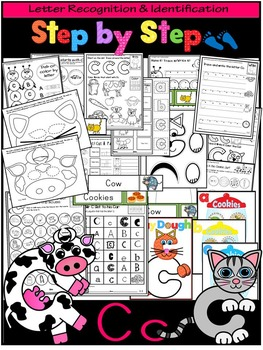 Letter of the week-LETTER C Activity PACK- letter recognition &identification-US