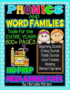 The ULTIMATE PHONICS and WORD FAMILIES Mega BUNDLE 600+ pa