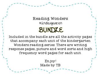 KG Reading Wonders Bundle Kindergarten
