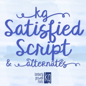 KG Satisfied Script Font: Personal Use