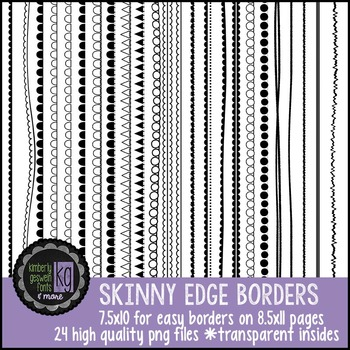 Borders: KG Skinny Edge Borders