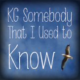 KG Somebody That I Used To Know Font: Personal Use
