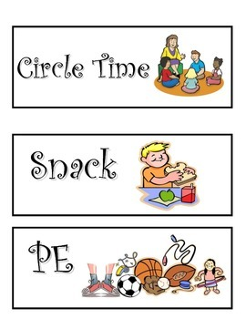 KG Subjects labels for daily schedule