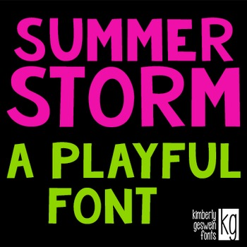 KG Summer Storm Font: Personal Use